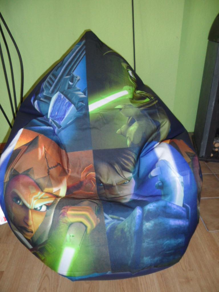Sitzsack XL Star Wars Lederoptik blau mit Microperlen für die großen ...
